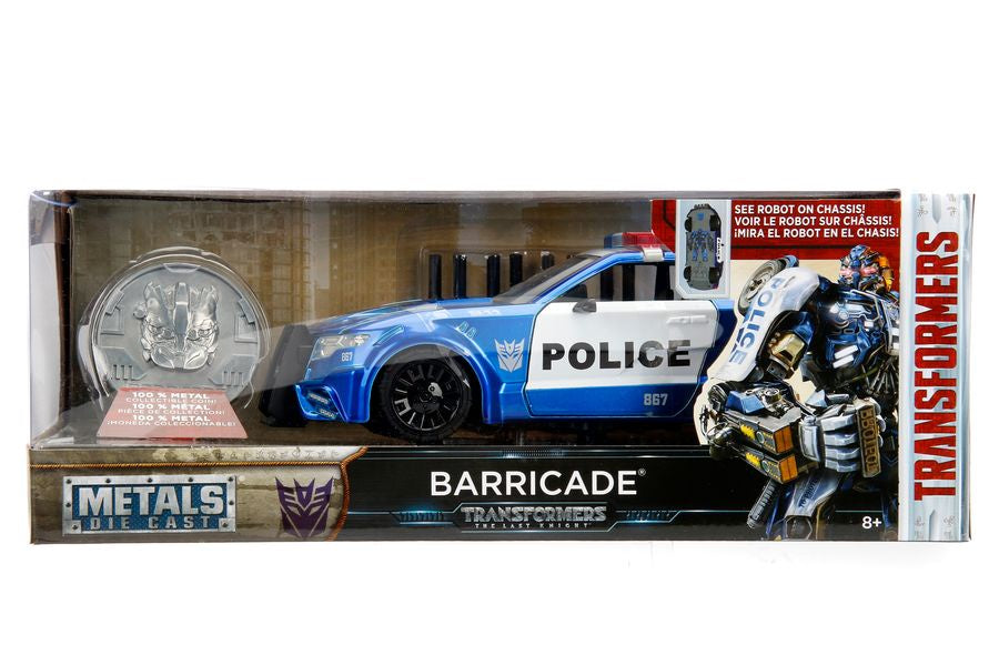 Transformers - Ford Mustang Barricade 1:24 Diecast Hollywood Ride