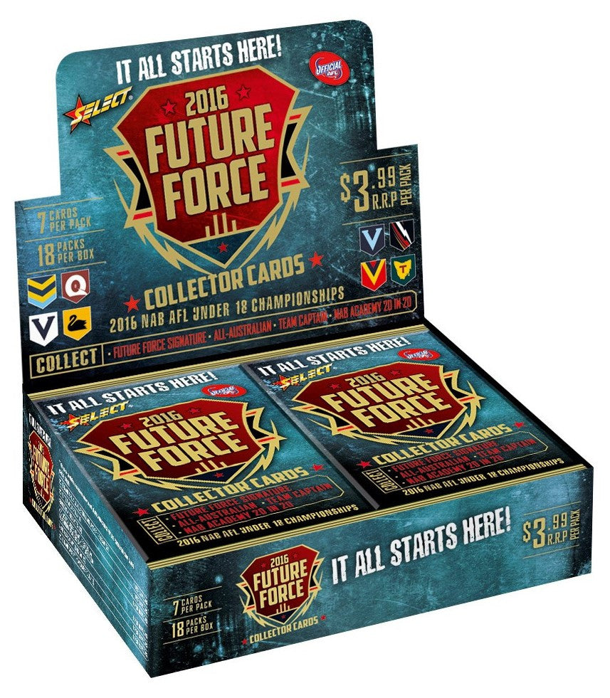2016 Select AFL Future Force 18 pack box