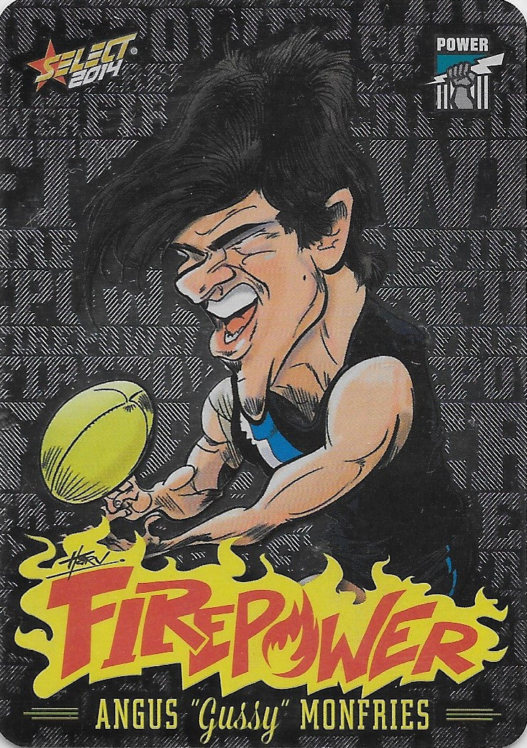 Angus Monfries, Firepower Caricatures, 2014 Select AFL Champions