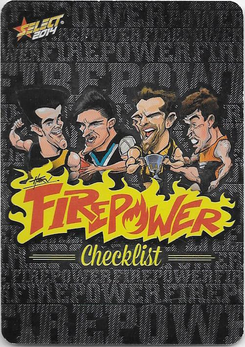 Firepower Caricatures Checklist, 2014 Select AFL Champions