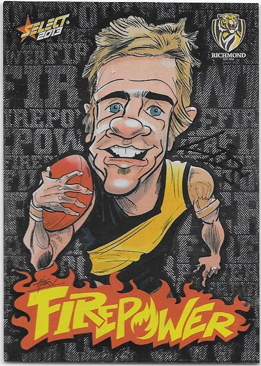 Brett Deledio, Firepower Caricature, 2013 Select AFL Champions