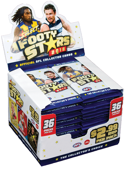 2018 Select AFL Footy Stars 36 pack box