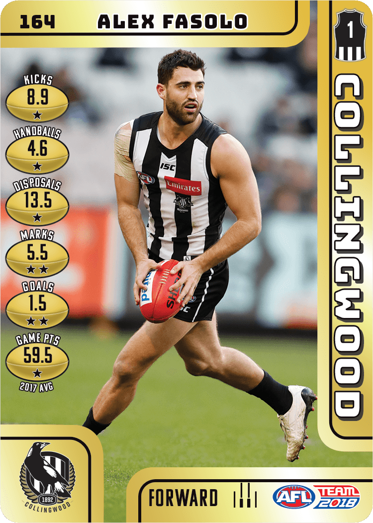 Alex Fasolo, Gold, 2018 Teamcoach AFL