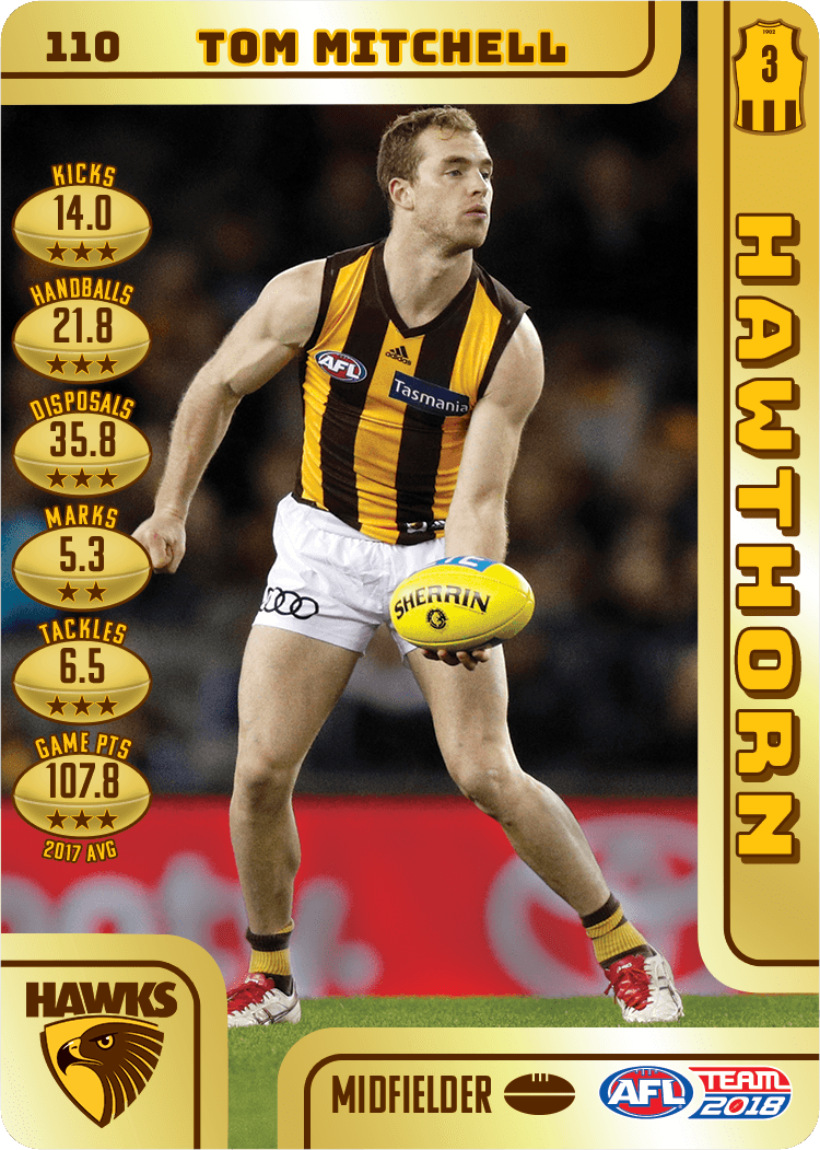 Tom Mitchell, Gold, 2018 Teamcoach AFL