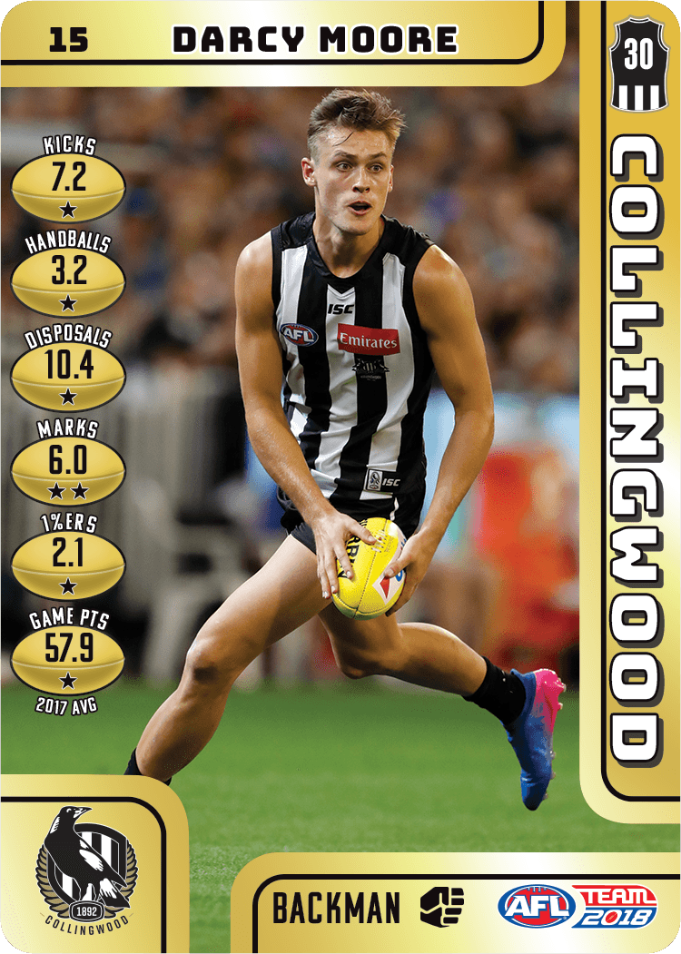 Darcy Moore, Gold, 2018 Teamcoach AFL