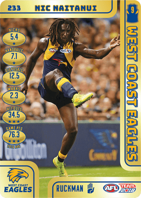 Nic Naitanui, Gold, 2018 Teamcoach AFL