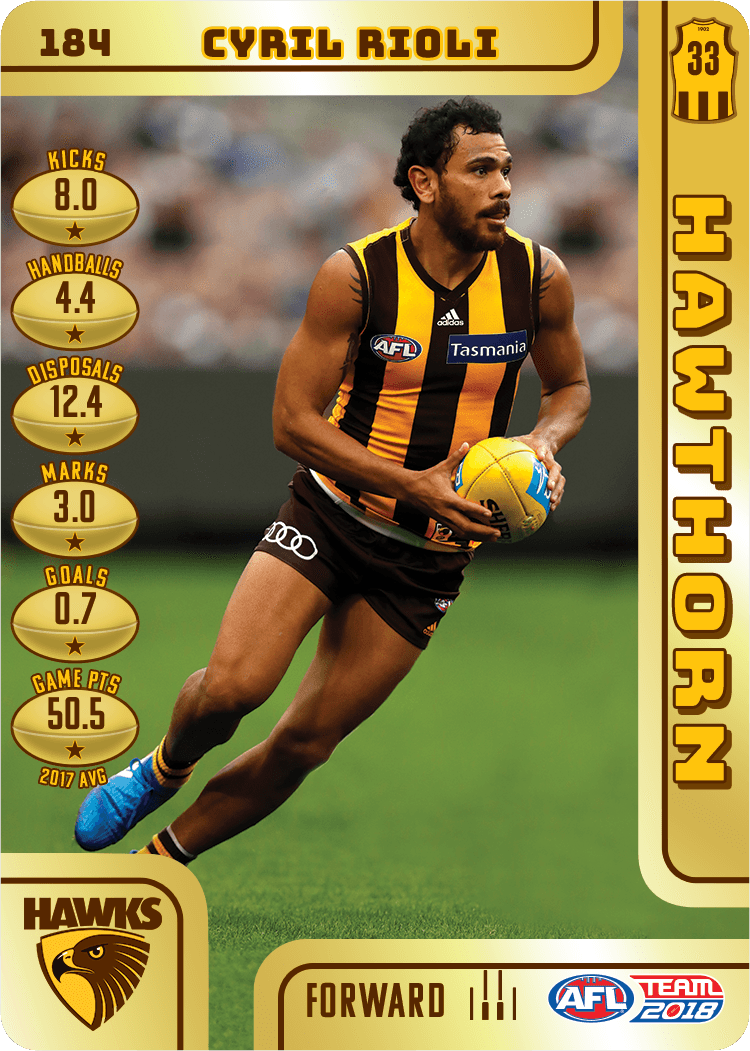 Cyril Rioli, Gold, 2018 Teamcoach AFL