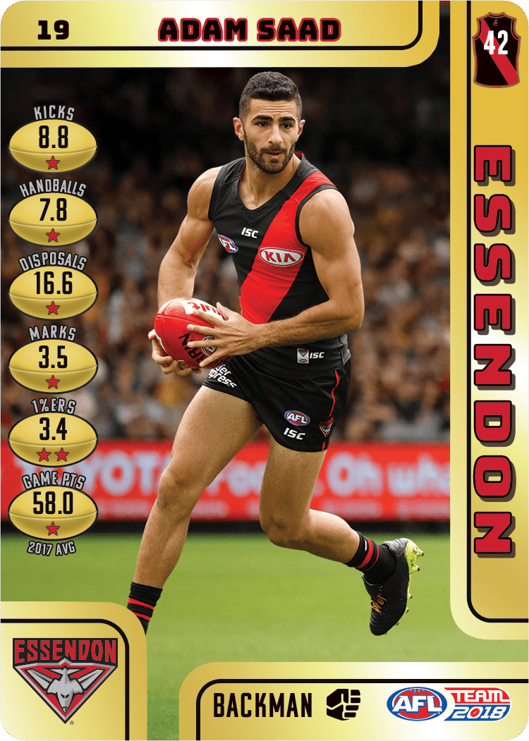Adam Saad, Gold, 2018 Teamcoach AFL