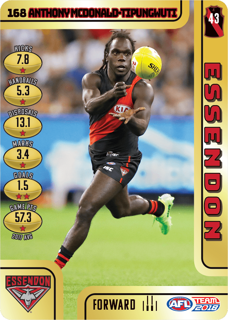 Anthony McDonald Tipungwuti, Gold, 2018 Teamcoach AFL