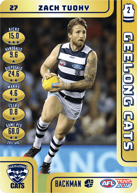 Zach Tuohy, Gold, 2018 Teamcoach AFL