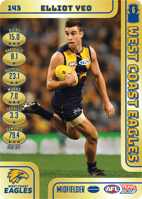 Elliot Yeo, Gold, 2018 Teamcoach AFL