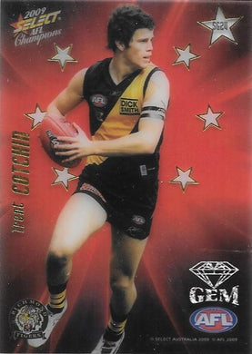 Trent Cotchin, Red Gem, 2009 Select AFL Champions