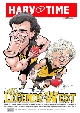 Glendinning & Cable, Legends of the West, Harv Time Poster