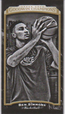 Ben Simmons, Black & White Mini, 2017 Upper Deck Goodwin Champions