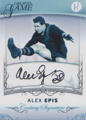 Alex Epis, Century Signature, 2017 Regal Football Greats of the Game