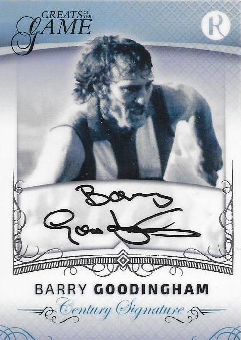 Barry Goodingham, Century Signature, 2017 Regal Football Greats of the Game