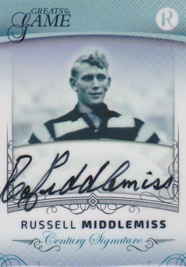 Russell Middlemiss, Century Signature, 2017 Regal Football Greats of the Game