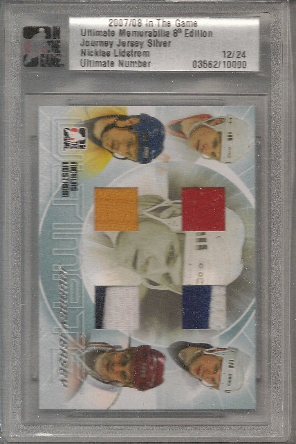 Nicklas Lidstrom, 2007-08 In the Game, Ultimate material 8th Ed, Journey Jersey Silver