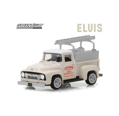 Elvis Presley 1954 Ford F-100 Truck Crown Electric Company, 1:64 Diecast Vehicle