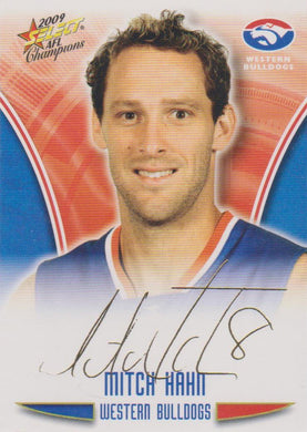 Mitch Hahn, Gold Foil Signature, 2009 Select AFL Champions