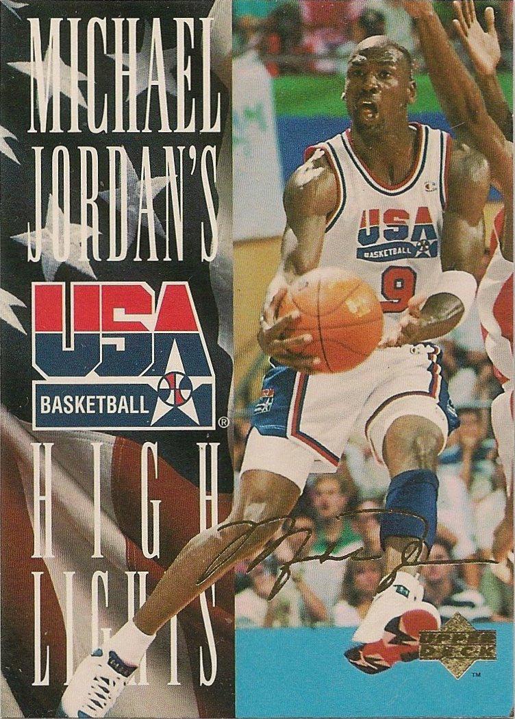 Michael Jordan, 1994-95 UD USA Highlights, JH1