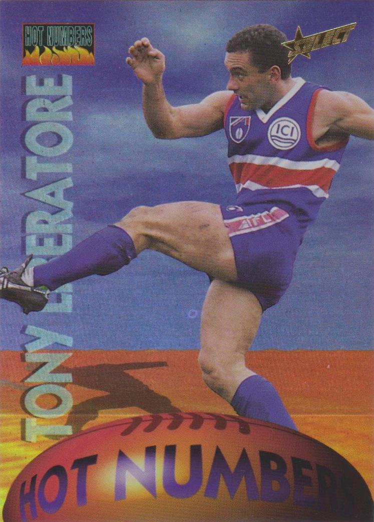 1996 Select AFL, Hot Numbers, Tony Liberatore