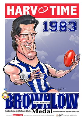 Ross Glendinning, 1983 Brownlow Harv Time Poster