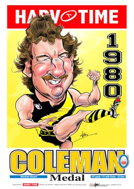 Michael Roach, 1980 Coleman Medallist Harv Time Poster