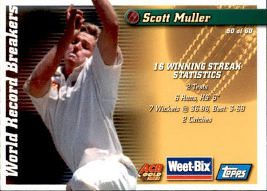 Jeff Thomson & Scott Muller, Weetbix, 2002 Topps ACB Gold Cricket