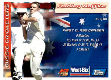 Graham McKenzie & Ashley Noffke, Weetbix, 2002 Topps ACB Gold Cricket