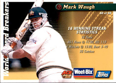 Ian Chappell & Mark Waugh, Weetbix, 2002 Topps ACB Gold Cricket