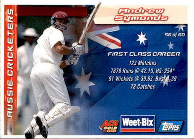 Doug Walters & Andrew Symonds, Weetbix, 2002 Topps ACB Gold Cricket