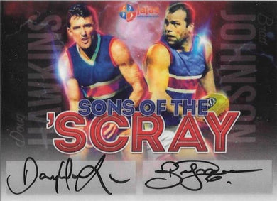 Doug Hawkins & Brad Johnson, Sons of the 'Scray, Dual Signature, Ja Ja's Collectables