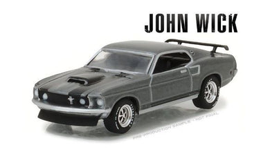 John Wick 1969 Ford Mustang BOSS 429, 1:64 Diecast Vehicle