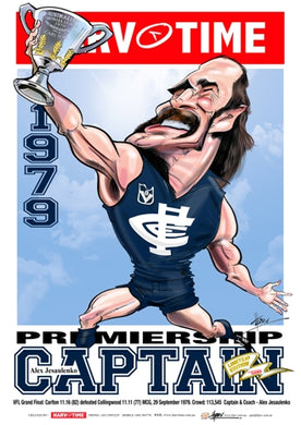 Alex Jesaulenko, 1979 Premiership Captain Harv Time Poster