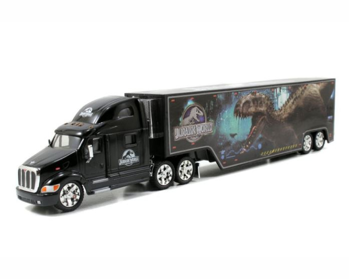 Jurassic World, Peterbilt 387 Hauler, 1:64 Diecast Model Truck