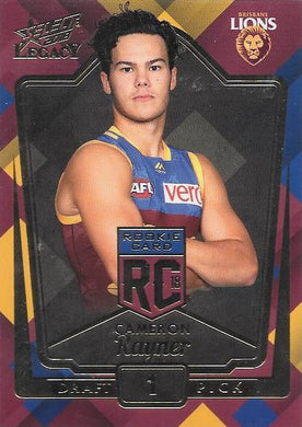 Cameron Rayner. Rookies RC, 2018 Select AFL Legacy