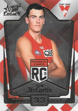 Tom McCartin, Rookies RC, 2018 Select AFL Legacy