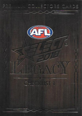 2018 Select AFL Legacy Base Set of 220 cards