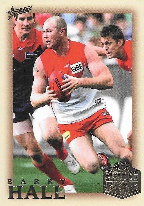Barry Hall, Hall of Fame Red Back Parallel, 2018 Select AFL Legacy