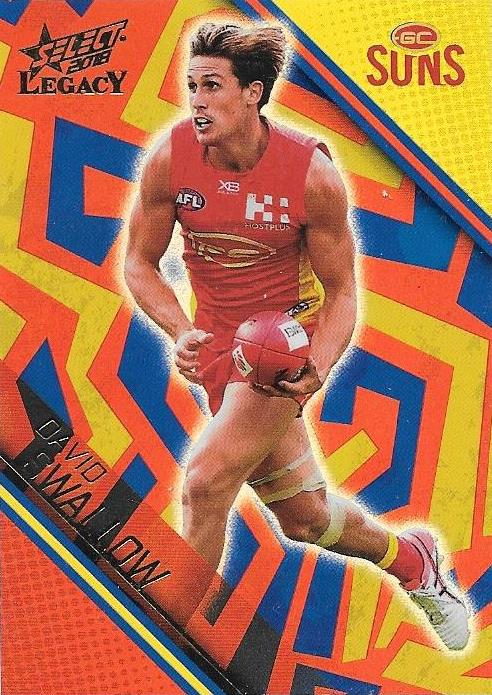 01/350, David Swallow, Holographic Parallel, 2018 Select AFL Legacy