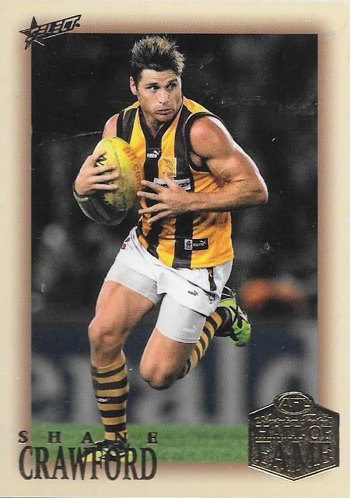 Shane Crawford, Hall of Fame Red Back Parallel, 2018 Select AFL Legacy