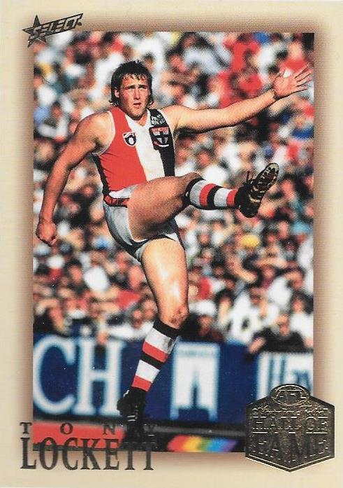 Tony Lockett, Hall of Fame Red Back Parallel, 2018 Select AFL Legacy