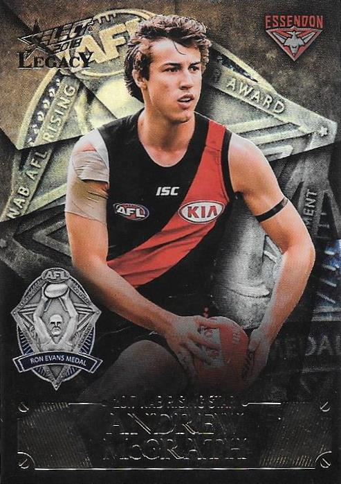 Andrew McGrath, Rising Star Medal Winner, 2018 Select AFL Legacy
