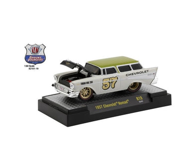 1957 Chevrolet Nomad, Ground Pounders, M2 Machines, 1:64 Diecast Vehicle