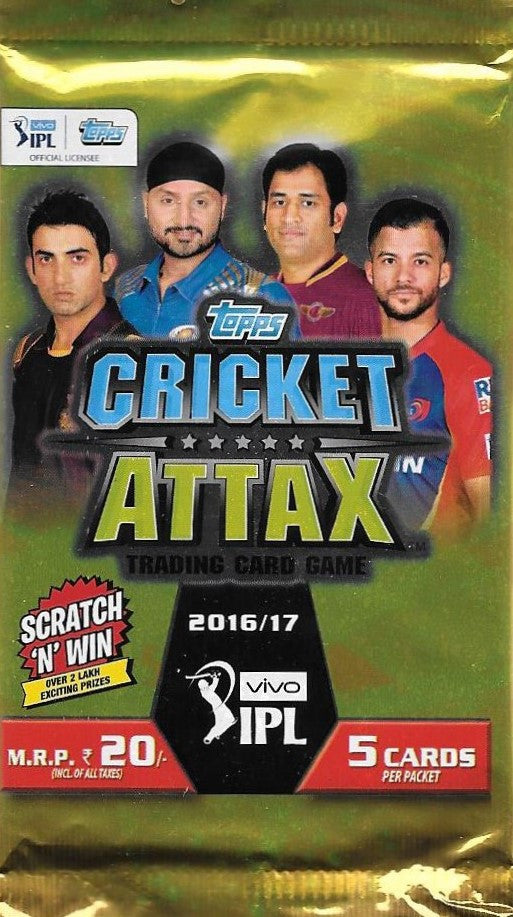 2016-17 Topps Cricket Attax IPL Pack