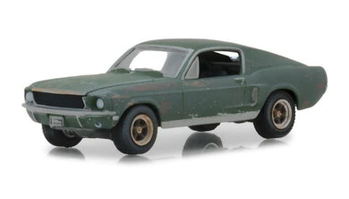 Unrestored 1968 Ford Mustang GT Flashback, Steve McQueen Collection, 1:64 Diecast Vehicle
