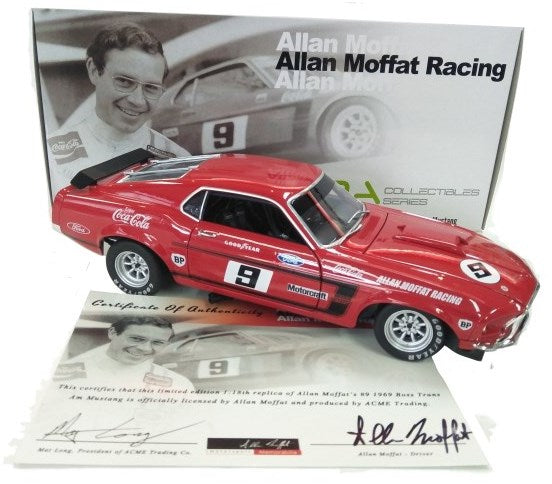 1969 Boss Trans Am Mustang, Allan Moffat Racing #9, 1:18 Diecast Model Car