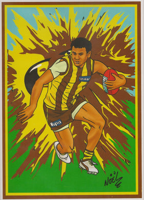 Cyril Rioli, A4 Print by NOEL