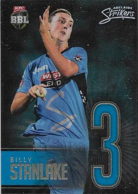 Billy Stanlake, Jersey Numbers Gold, 2017-18 Tap'n'play CA BBL 07 Cricket